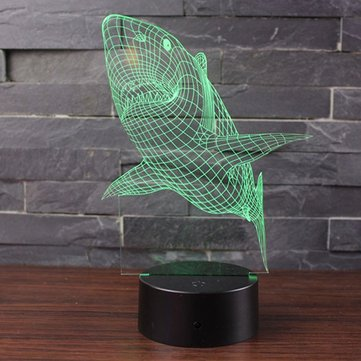 Shark 3D LED Touch Control Night Light