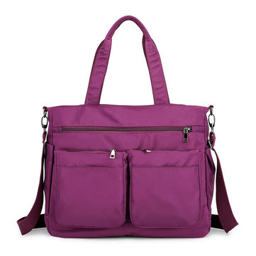 Women Nylon Multi-pocket Crossbody Bag