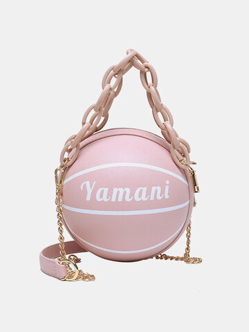 Women Basketball Chains Handbag
