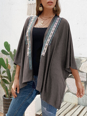 Vintage Ribbon Irregular Cardigan