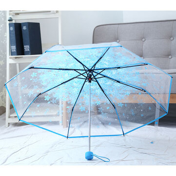 Cherry Blossoms Transparent Umbrella