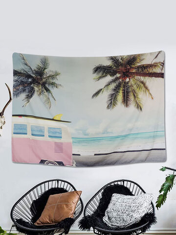 1PC Summer Beach Landscape Printing Tapestry Home Decor Living Room Bedroom Photo Prop Wall Art Tapestries