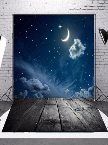 3x5ft الفينيل التصوير خلفية القمر موضوع الخلفيات استوديو الدعائم