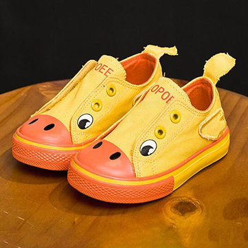 Unisex Kids Cartoon Animal Flat Shoes
