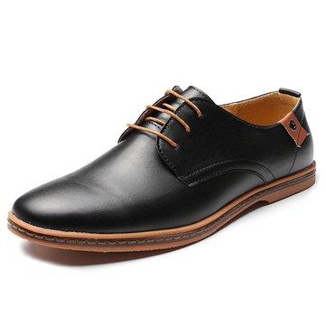 Tamanho grande sapatos casuais de Oxford sapatos de estilo britânico de cor pura para homens