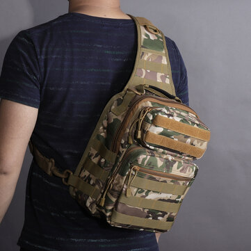 Canvas Camouflage Outdoor Travel Sling Bag Crossbody Bag