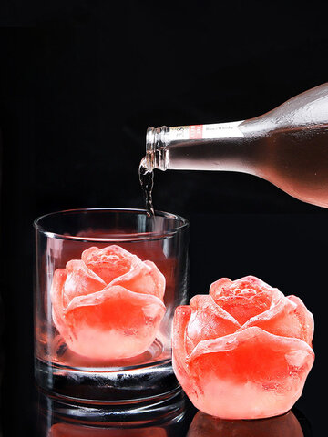 1Pc Creative Food Grade 3D Silicone Rose Ice Cube Mold