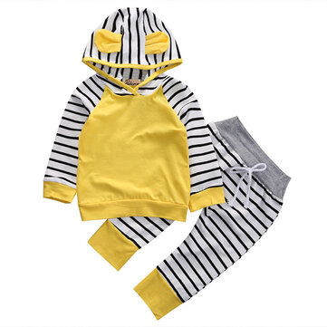 2pcs Stripped Kids Set für 0-24M