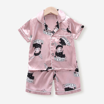 Girl's and Boy's Cartoon Pajama For 2-10Y