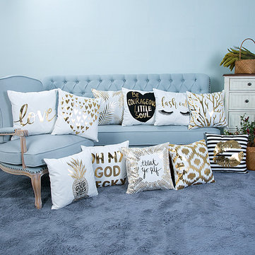 Creative Soft Foil Pattern Coussin Cover Throw Pillow Covers Oreiller Home Sofa Bed Decor
