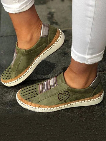 LOSTISY Breathable Hollow Casual Flat Loafers
