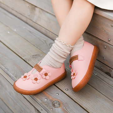 Girls Flowers Soft Scarpe comode piatte