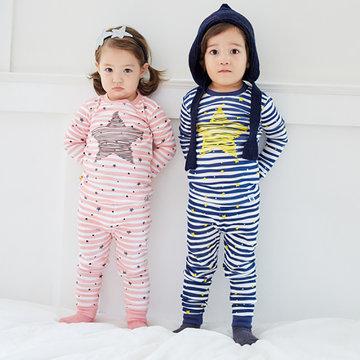 Star Impresso Meninos Meninas Pijamas Set Vestuário