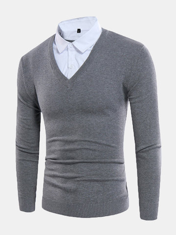 Mens Knit Casual Sweater