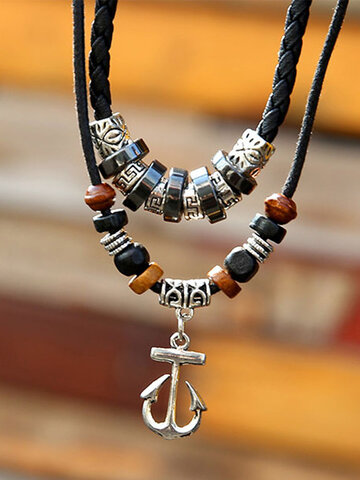 Anchor Ring Double-layer Necklace
