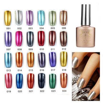 Smalto Gel UV per Unghie in 24 Colori Metallici Solventi