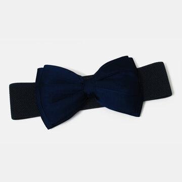 Elastic Стандарты Bow Super Wide Талия Платье Аксессуары