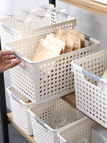 Home Plastic Kitchen Debris Fruit Storage Basket Desktop Snack Storage Basket Refrigerator Storage
