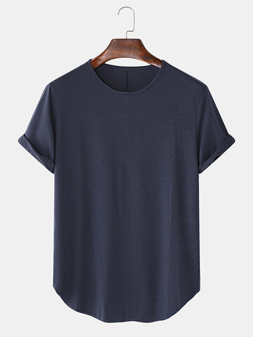 Solid Color Loose Casual T-Shirts