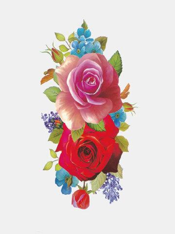 Adesivi per tatuaggi con fiori colorati da 28 pezzi