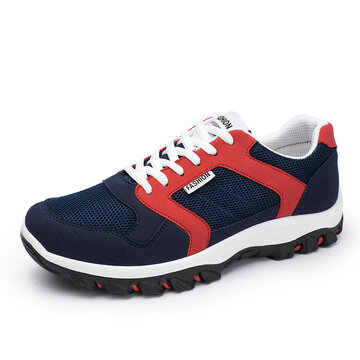 Men Fabric Hiking Outdoor Sneakers