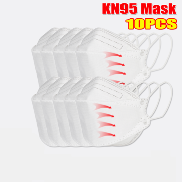 10 Pcs / Pack 0f KN95 MasksCE Certification