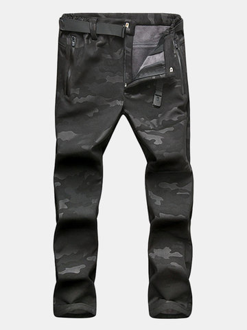 Mens Outdoor Camouflage Durable Soft Shell Pants