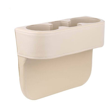 Leather Car Seat Cup Holder