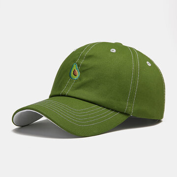 Fruit Avocado Green Pattern Baseball Cap Fashion Hats