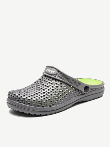 Men Removable Insole Hole Water Beach Sandals