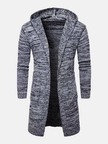 Hooded Mid-long Warm Cardigan Sweater