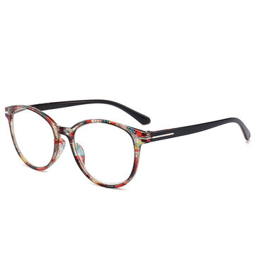 Womens Retro Round Printed Reading Glasses