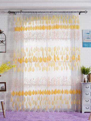 2PCS Gauze Curtain Screens Bedroom Living Room Window