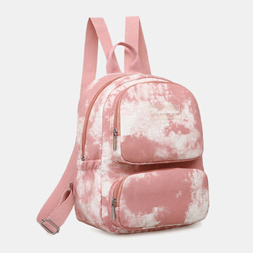 Oxford Anti theft Large Capacity Tie Dye Backpack