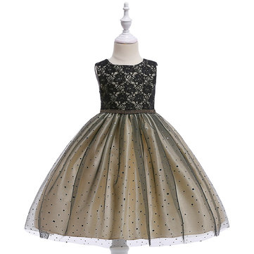 Sequins Lace Girl Dress For 4-13Y