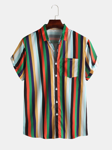 Cool Rainbow Striped Shirts