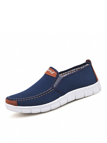 Men Brief Elastic Band Loafers Shoes