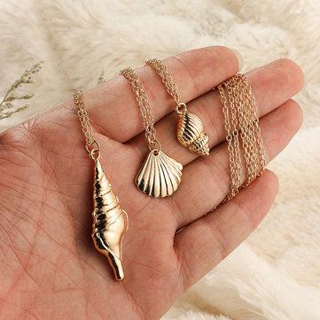 Muschel Anhänger mehrschichtige Halskette
