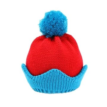 Baby Children Cartoon Crown Knitted Hat Casual Outdoor Cap