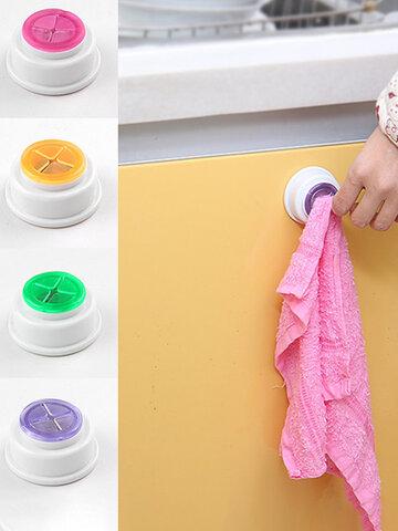 المطبخ Dishcloth كليب الإبداعية خرقة صغيرة مقطع منشفة هوك البلاستيك PVC فسكوزي غسل منشفة تجفيف الرف