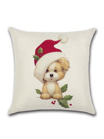 Christmas Decor Cotton Linen Cushion Cover