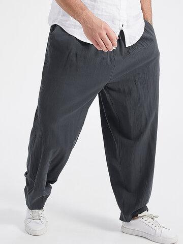 Plus Size Solid Color Pants