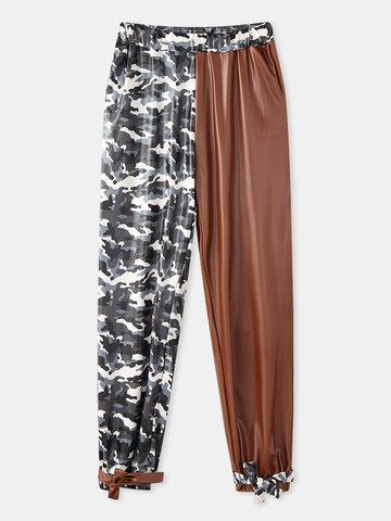 Camouflage Patchwork Pocket Pants