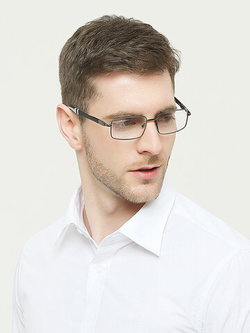 Mens Flexible Square Reading Glasses
