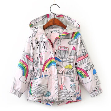 Rainbow Girls Hooded Coats 3Y-11Y