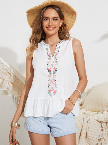 Bohemia Embroidered Tank Top