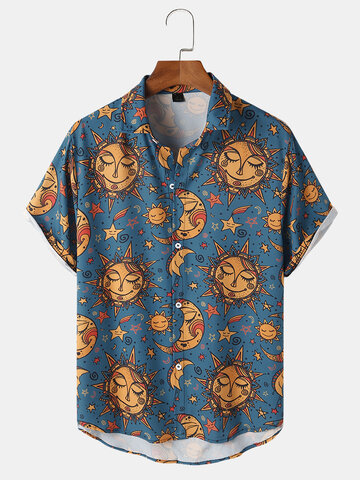 All Over Celestial Print Shirts