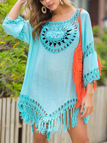 Crochet Asymmetrical Holiday Cover Up