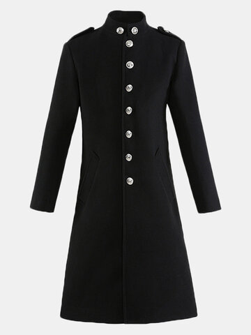 Long Style Vintage Woolen Trench Coat