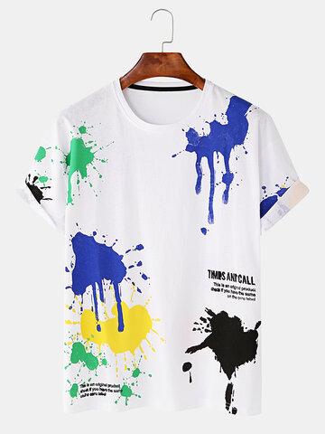 Mens Pigment Printed T-shirts